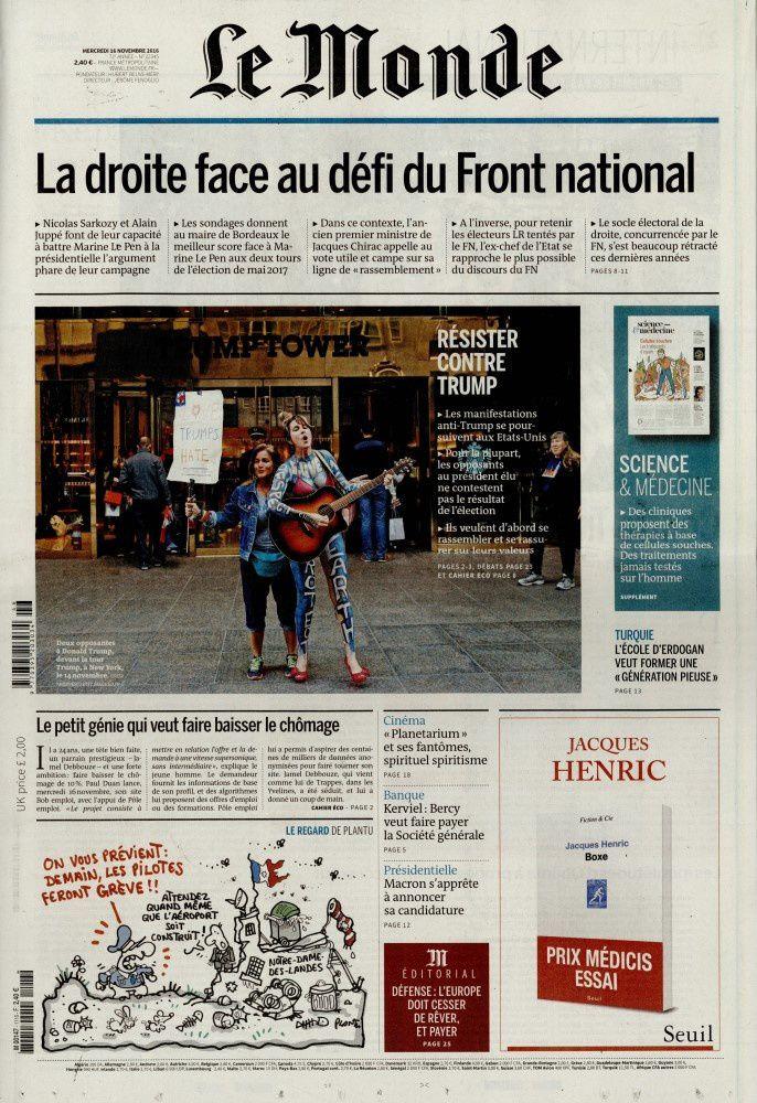 La Une de la presse quotidienne nationale ce mercredi.