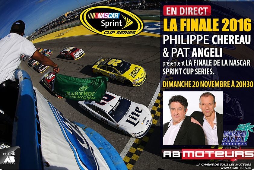Finale de la Nascar Sprint Cup en direct sur AB Moteurs ce week-end.