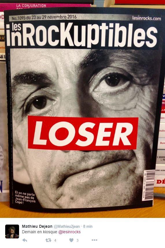 Nicolas Sarkozy &quot&#x3B;Loser&quot&#x3B; en Une des Inrocks.