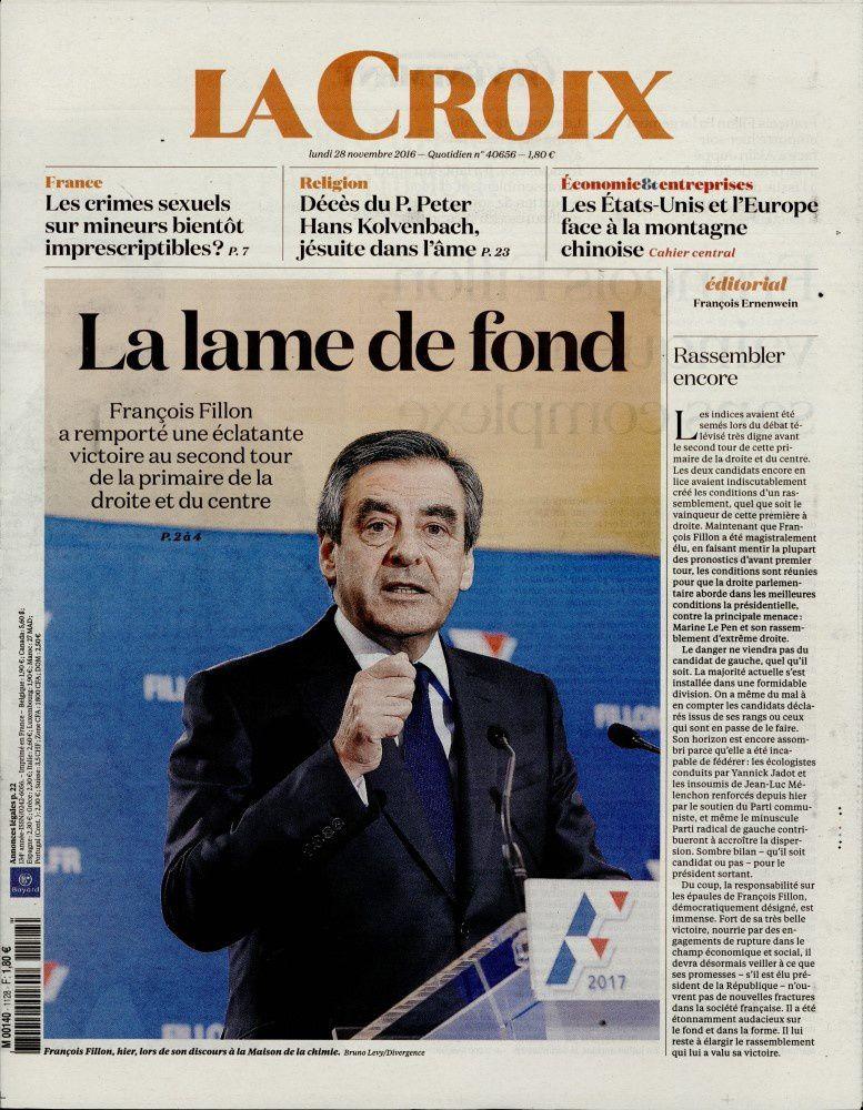 La Une des quotidiens nationaux ce lundi 28 novembre.