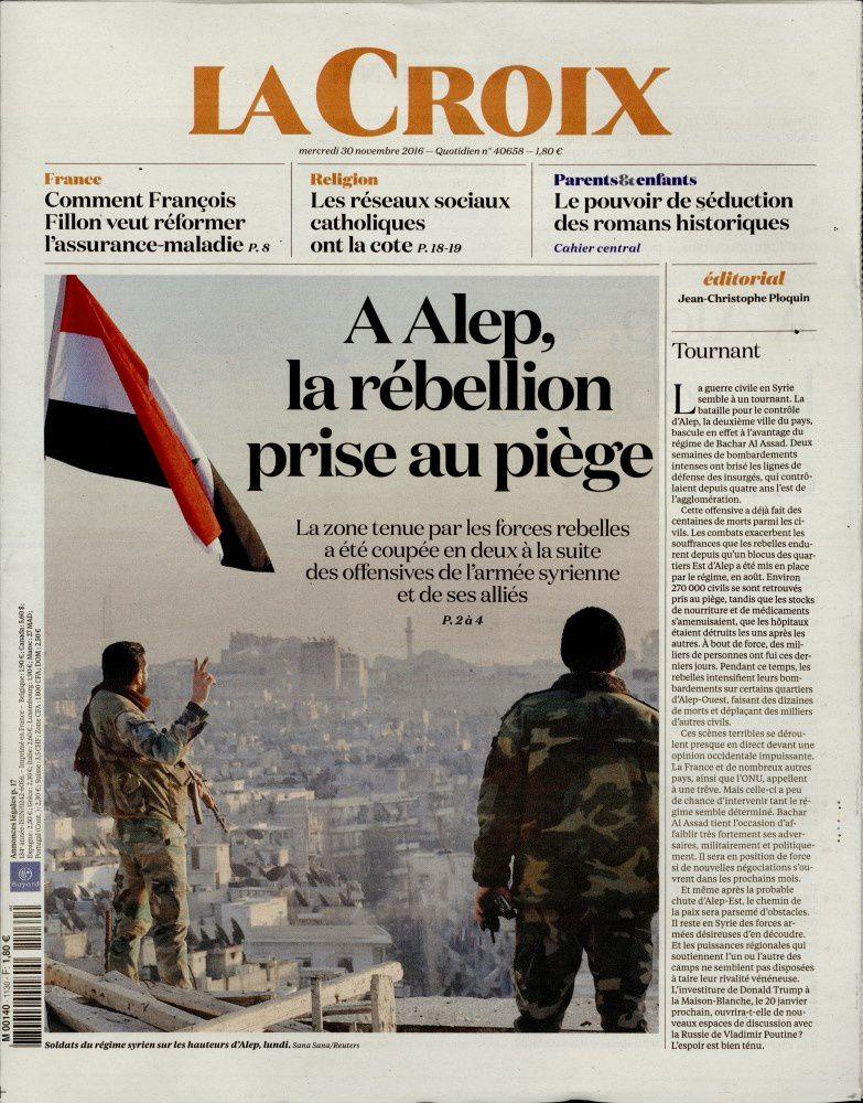 La une des quotidiens nationaux ce mercredi 30 novembre.