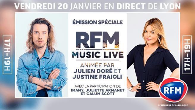Julien Doré co-animateur d'un jour à Lyon ce vendredi pour RFM.