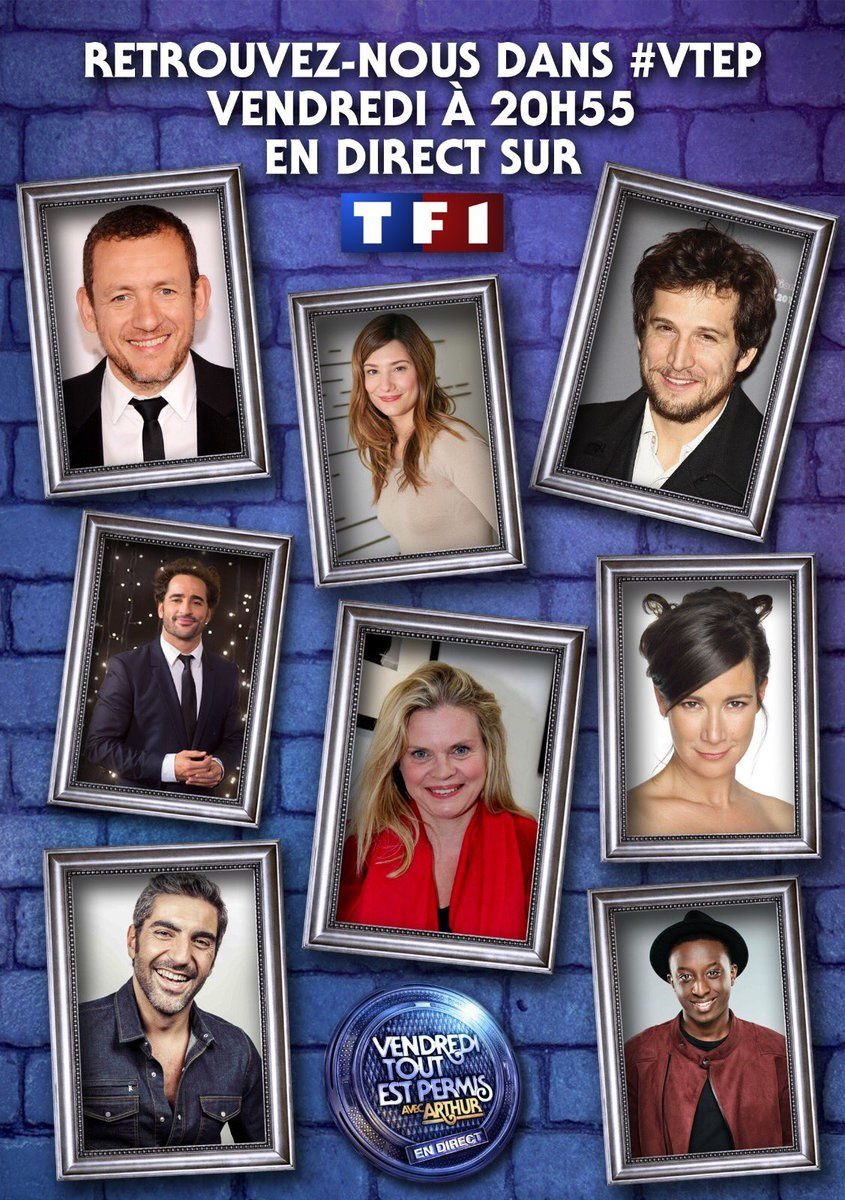 Vendredi tout est permis en direct, avec Dany Boon, Guillaume Canet et de nombreuses Miss !