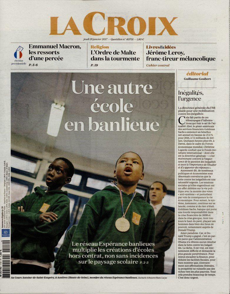 La Une des quotidiens nationaux ce jeudi 19 janvier.