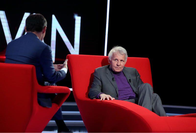 Patrick Poivre d'Arvor sur le Divan de Marc-Olivier Fogiel ce mardi.