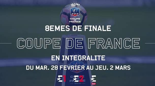 Eurosport propose à ses abonnés l'intégralité des 8èmes de finale de Coupe de France.