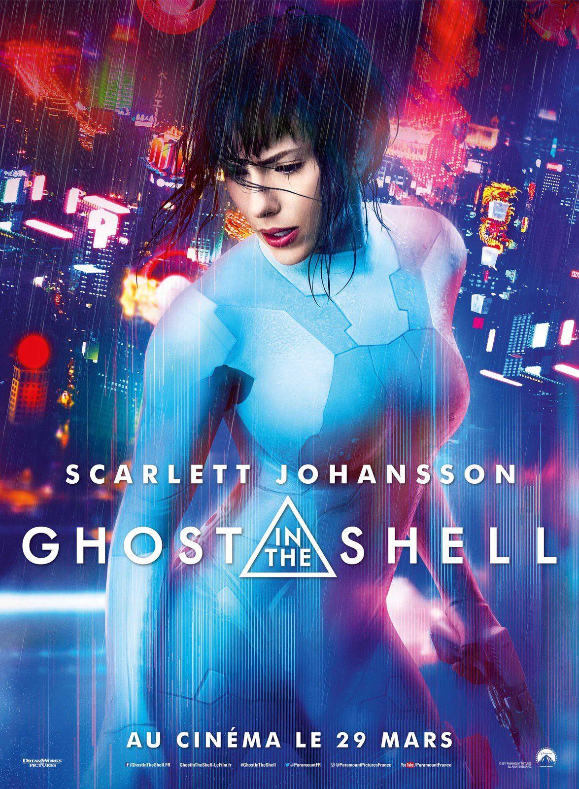 Dans les salles ce mercredi : le film Ghost in the Shell, avec Scarlett Johansson.