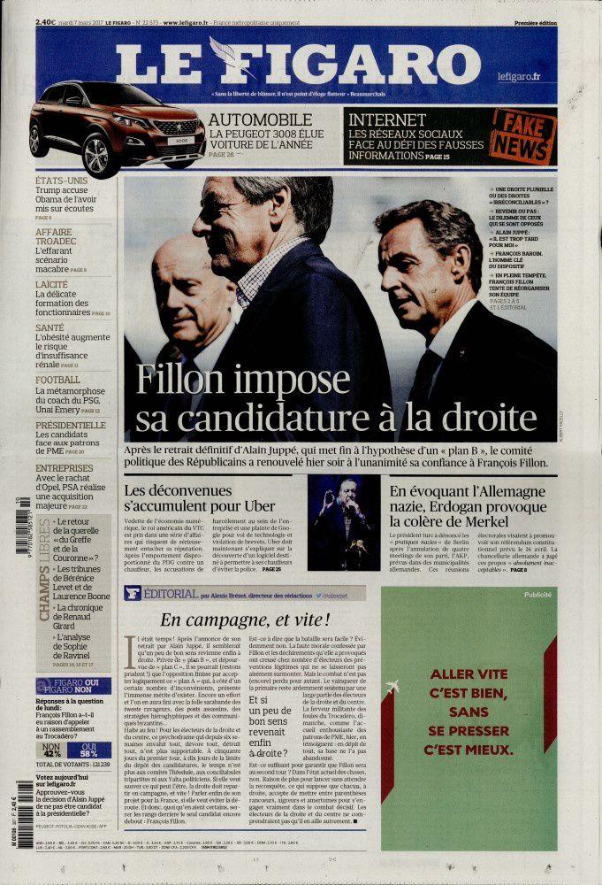 La Une des quotidiens nationaux ce mardi 7 mars.