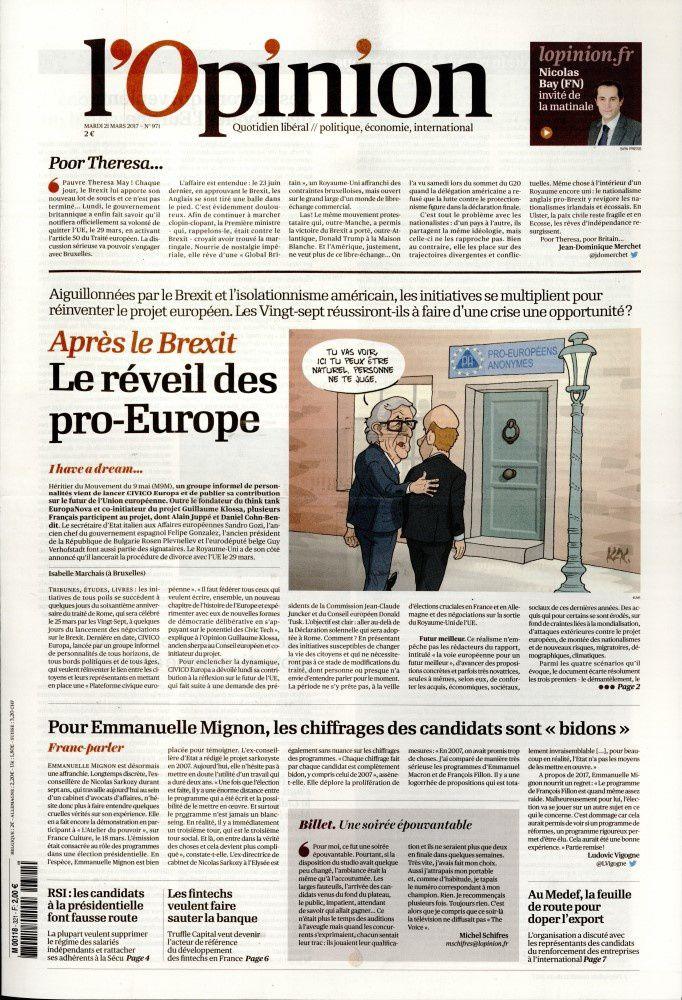 La Une des quotidiens nationaux ce mardi 21 mars.