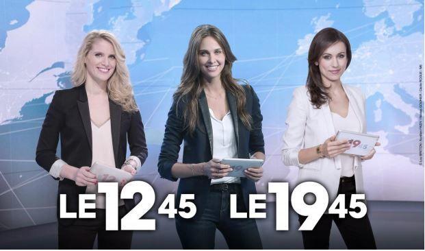 Laurie Desorgher, Ophélie Meunier et Marie-Ange Casalta aux commandes des JT de M6 en avril.