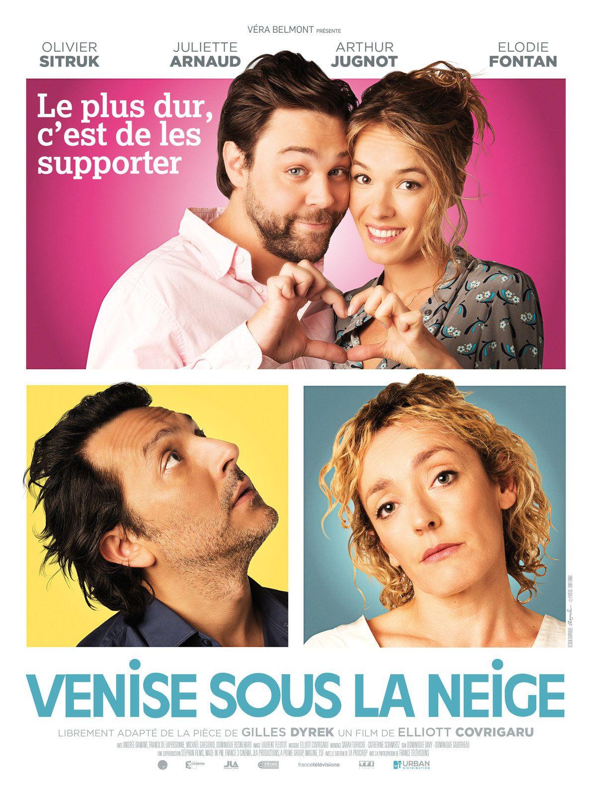 En salles ce mercredi : la comédie Venise sous la neige, avec Juliette Arnaud.
