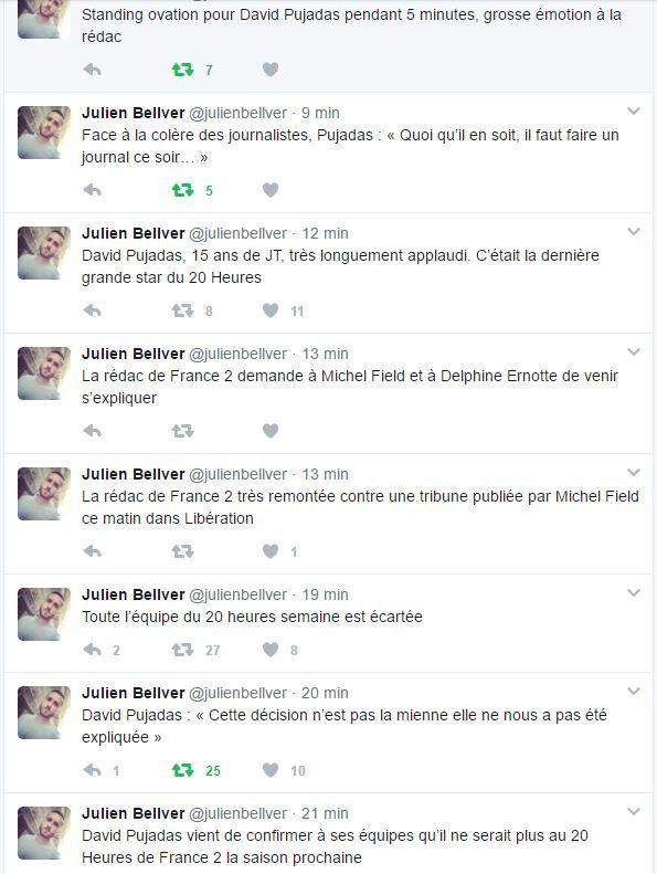 David Pujadas est écarté du journal de 20 heures sur France 2.