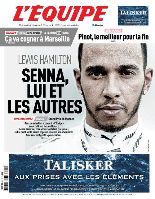 Entretien avec Lewis Hamilton ce vendredi dans L'Équipe.