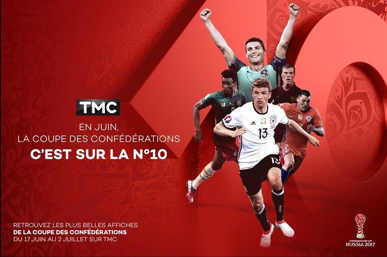 Coupe des confédérations : 8 rencontres de foot diffusées dès ce week-end sur TMC.