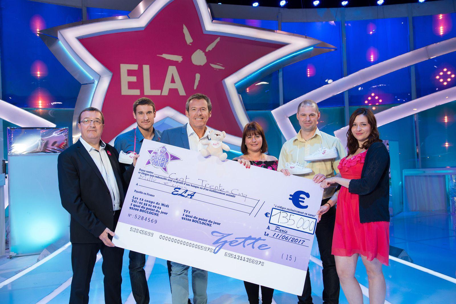 135.000 euros récoltés pour l'association ELA lors des 12 coups de midi.