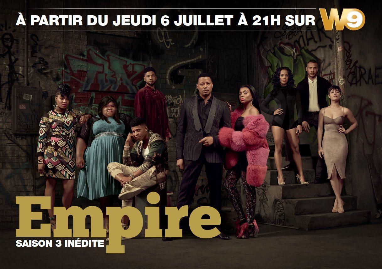 Saison 3 de la série Empire dès le 6 juillet sur W9.