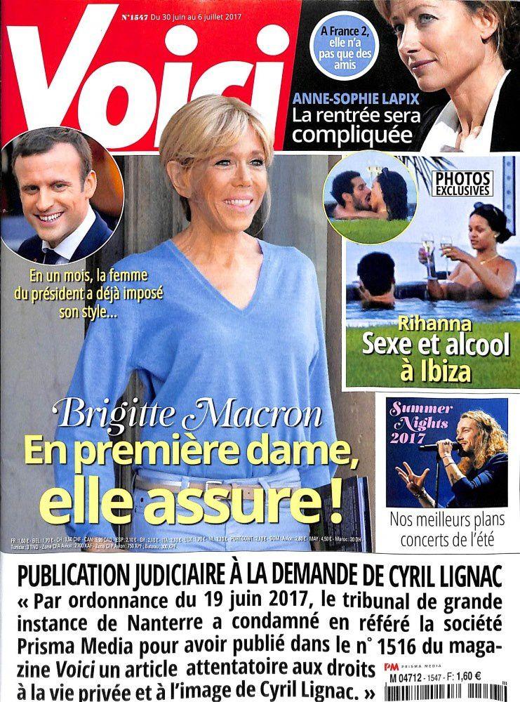Brigitte Macron est de nouveau en Une de la presse people ce vendredi.