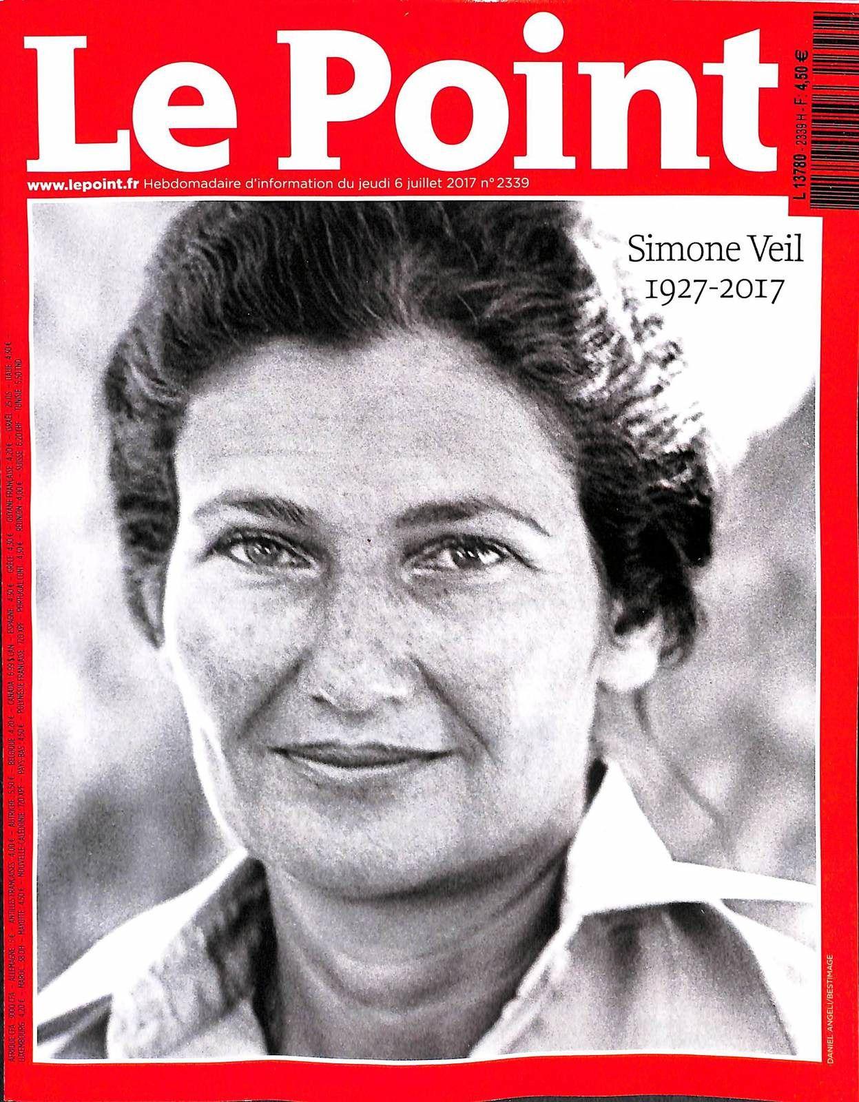 Les hebdomadaires presse rendent hommage à Simone Veil (Mis à jour).