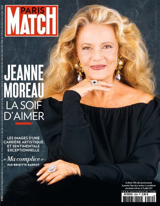 L'hommage de Paris Match à Jeanne Moreau.