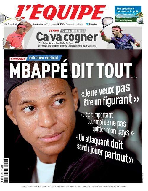 Entretien avec Kylian Mbappé dans L'Équipe : &quot&#x3B;Gagner tous les titres. C'est ça que je veux&quot&#x3B;.