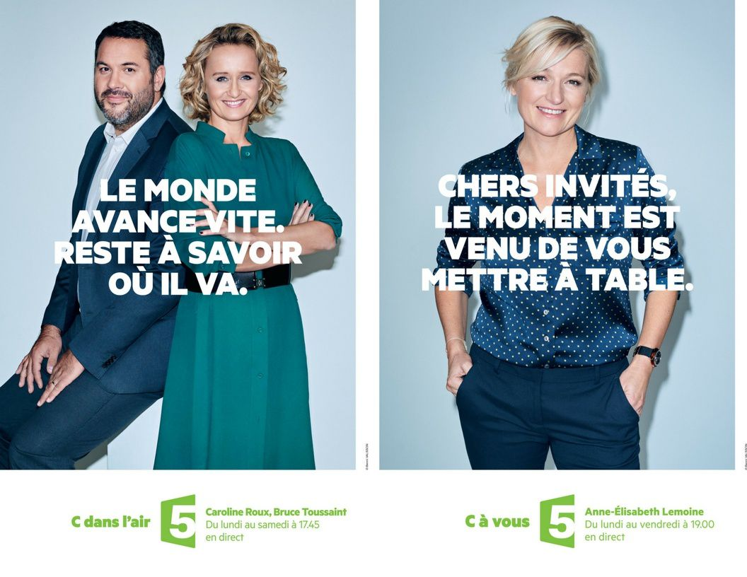 Campagne d'affichage consacrée aux émissions qui décryptent l'actualité en Access sur France 5.