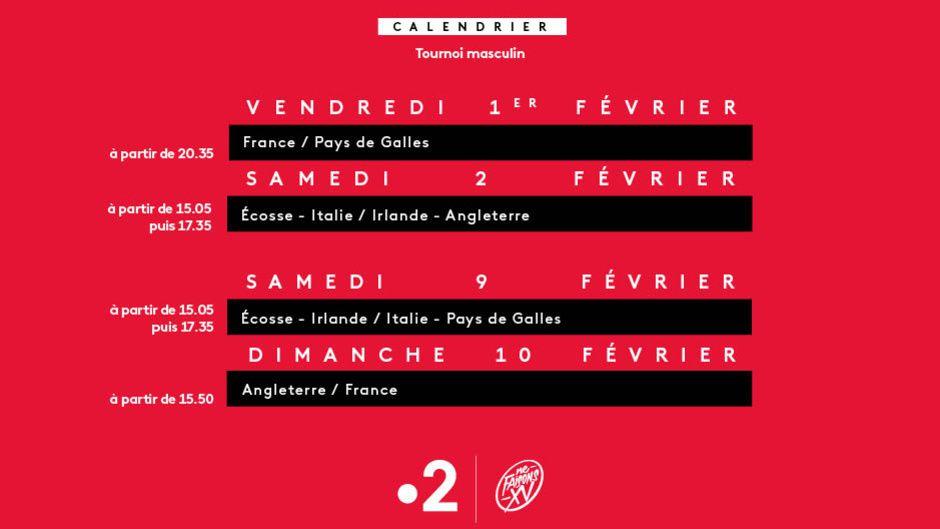 Calendrier Du Tournoi Des 6 Nations.Tournoi Des 6 Nations Des Ce Vendredi Soir Sur France 2 Le