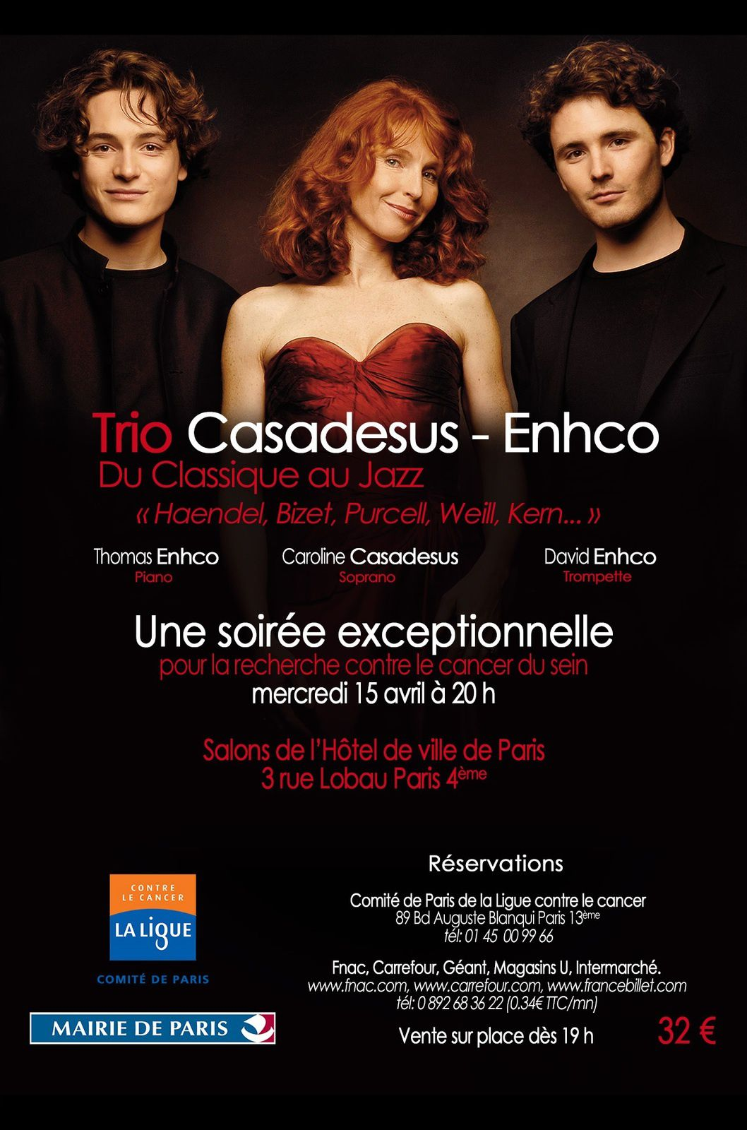 Concert caritatif le 15 avril 2015 Ligue contre le cancer