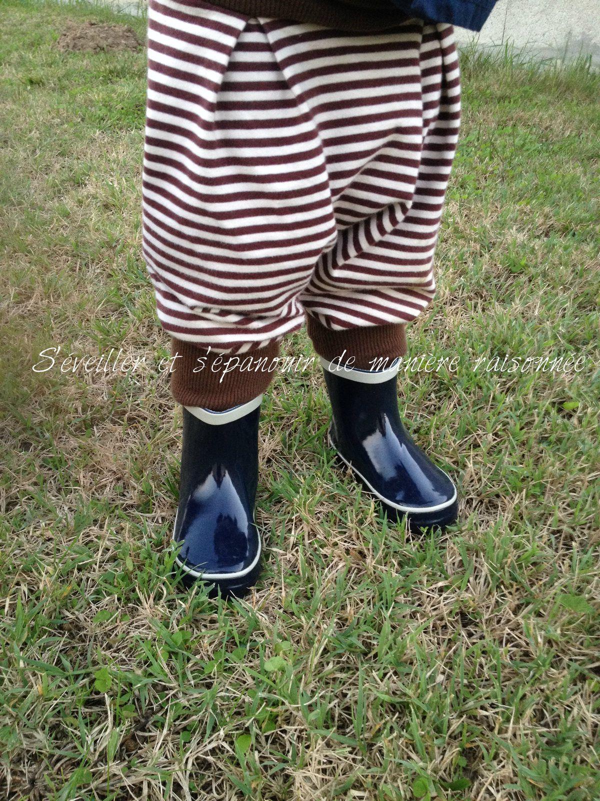 Les tribulations d'une paire de bottes (souples!) en caoutchouc (Playshoes)