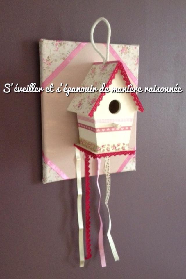 Tuto/DIY - Attache-barrettes &amp&#x3B; Porte-bandeaux : Nichoir sur toile