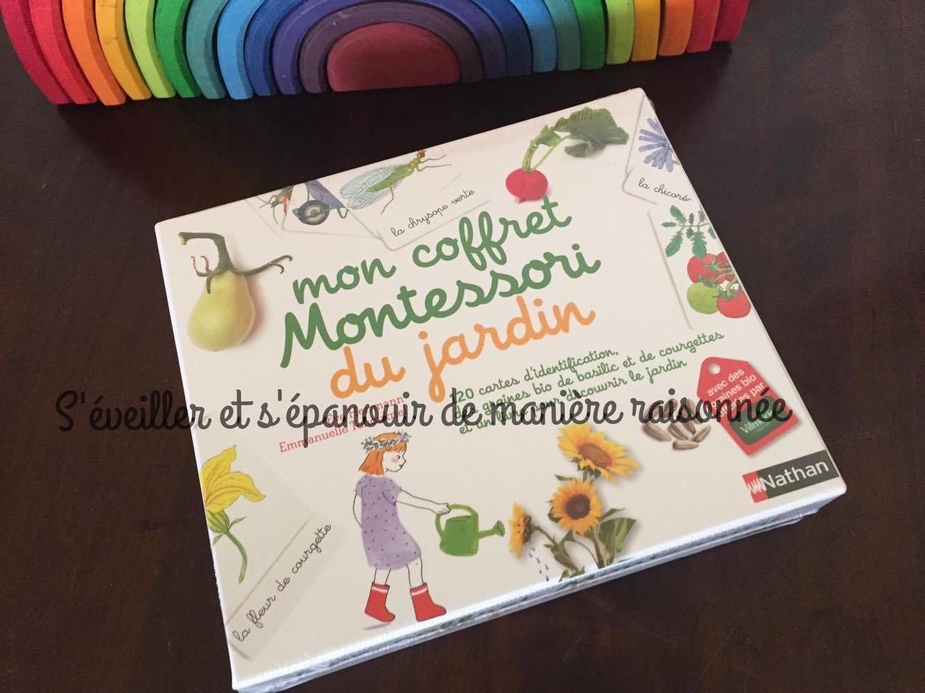 mon coffret montessori du jardin une nouveaut d 39 avril chez nathan s 39 veiller et s 39 panouir. Black Bedroom Furniture Sets. Home Design Ideas