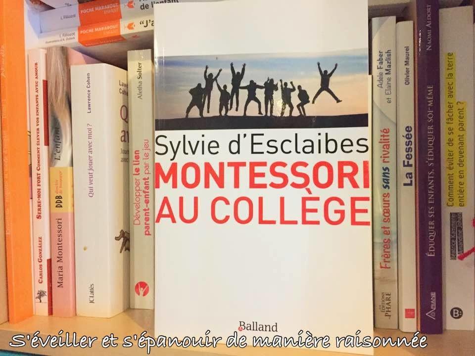 [Biblio] Montessori au collège, de Sylvie d'Esclaibes
