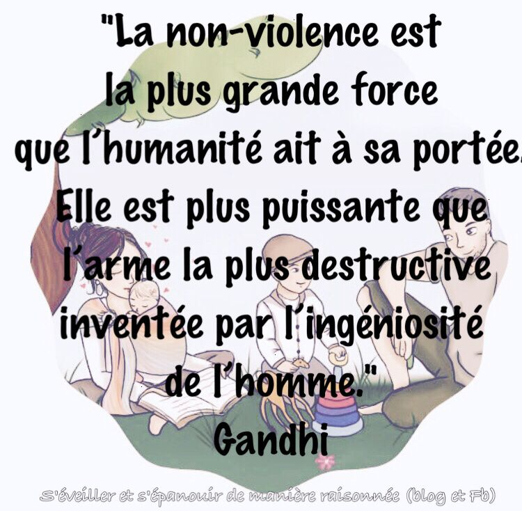 [2 octobre - Journée internationale de la non violence]