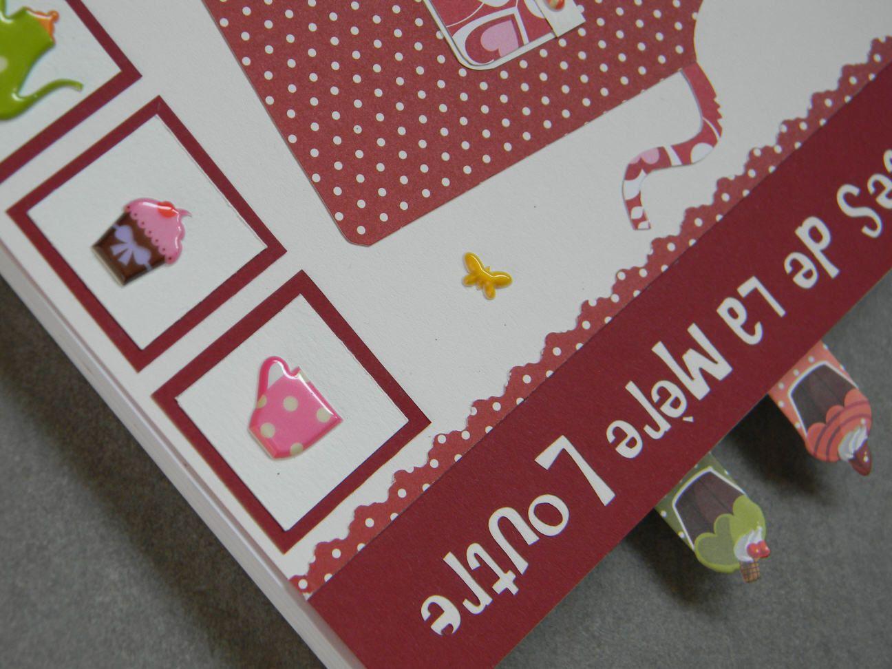 "Stickers ""Tea Time"" et mémos ""Cupcakes"""