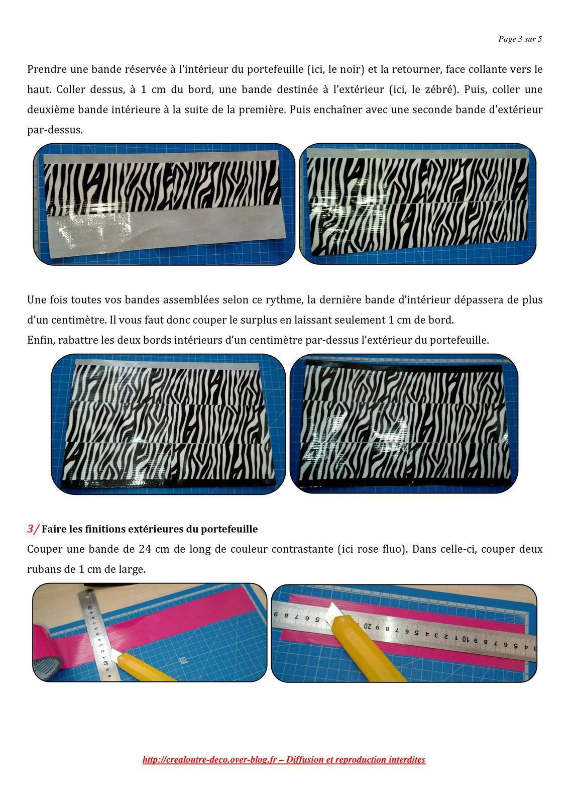 Tuto Duct Tape It'z : le portefeuille