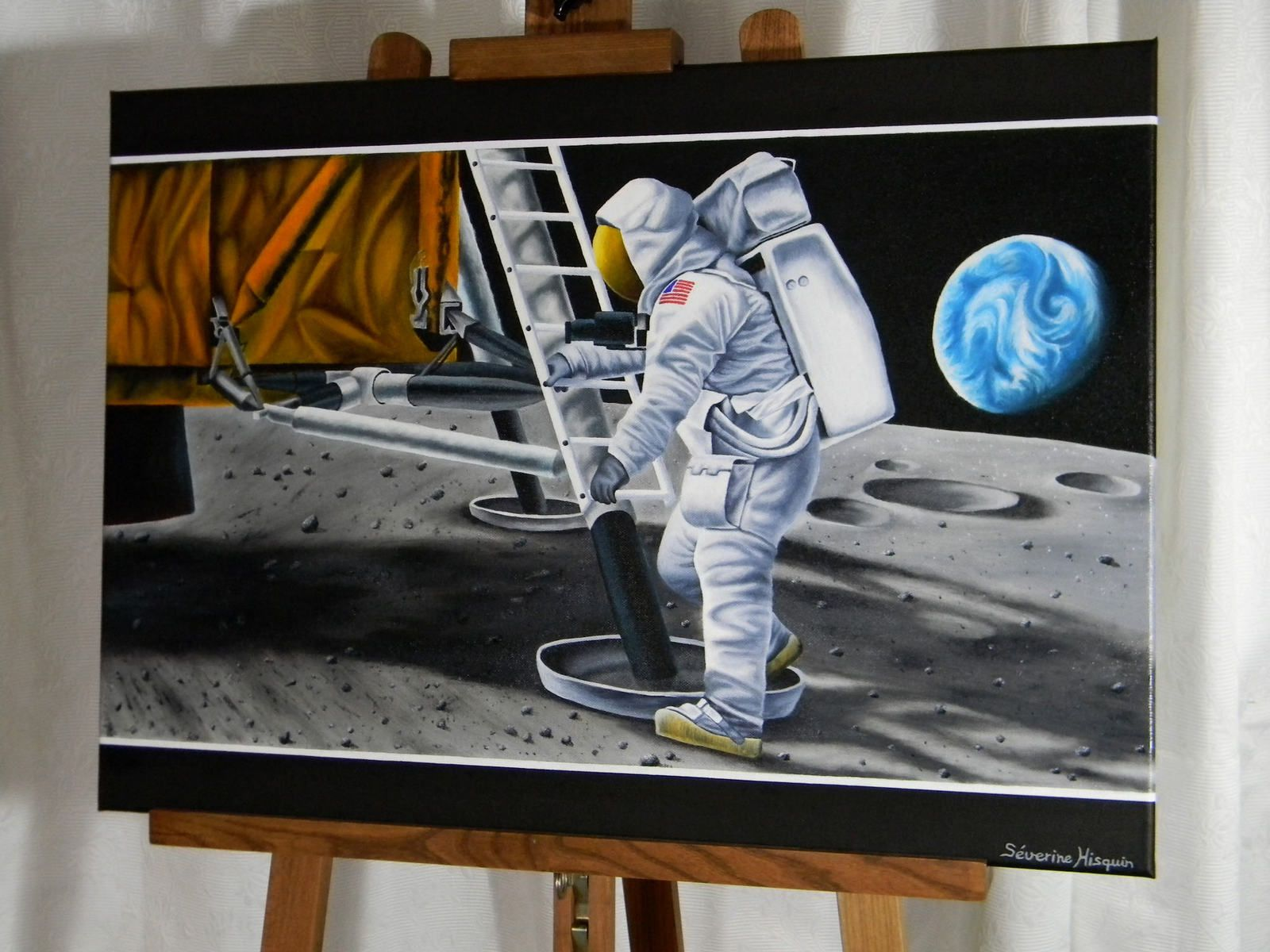 """First man on the moon"", 50 x 70 cm"