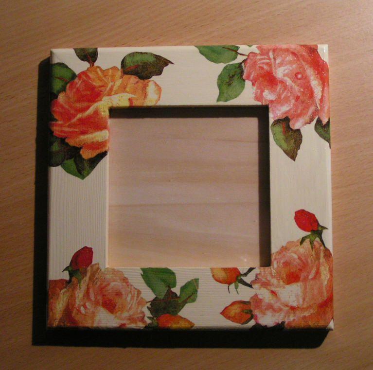 Cadre photo décoré de roses
