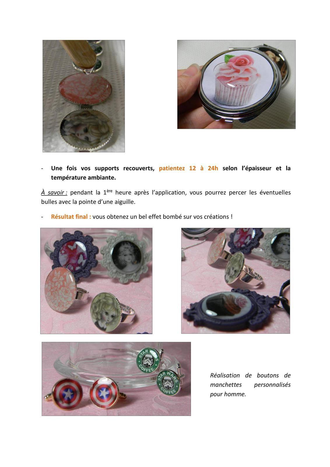 Tuto résine de glaçage (sur bijoux et carte postale)