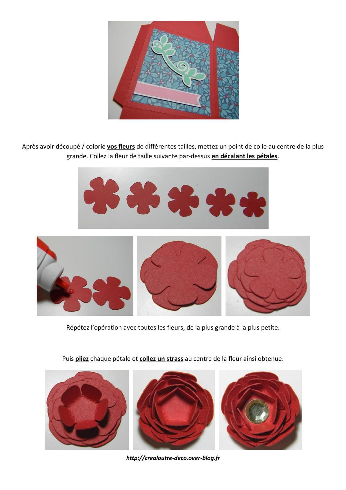 Tuto boîte cadeau avec fleur 3D (free printable)