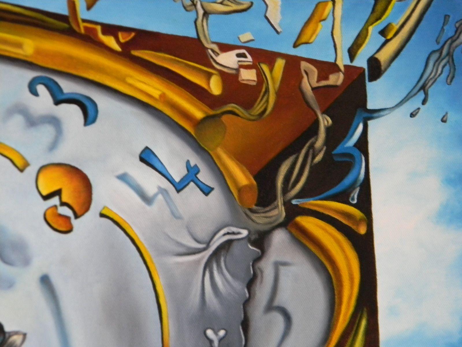 Peinture d'après Dali : défi relevé !!!