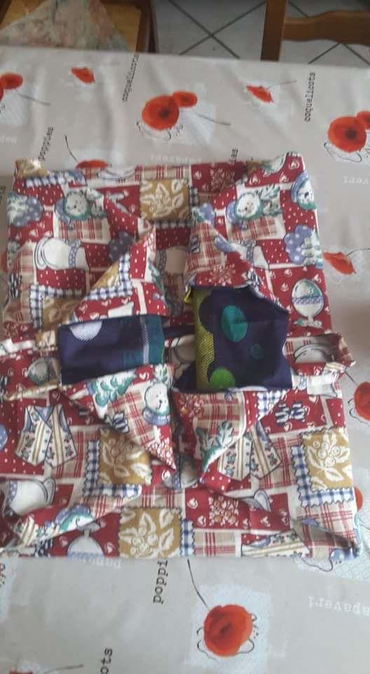 Un panier à tissus... en tissu !