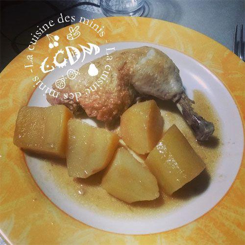 Cuisses de poulet pommes de terre - Cookéo