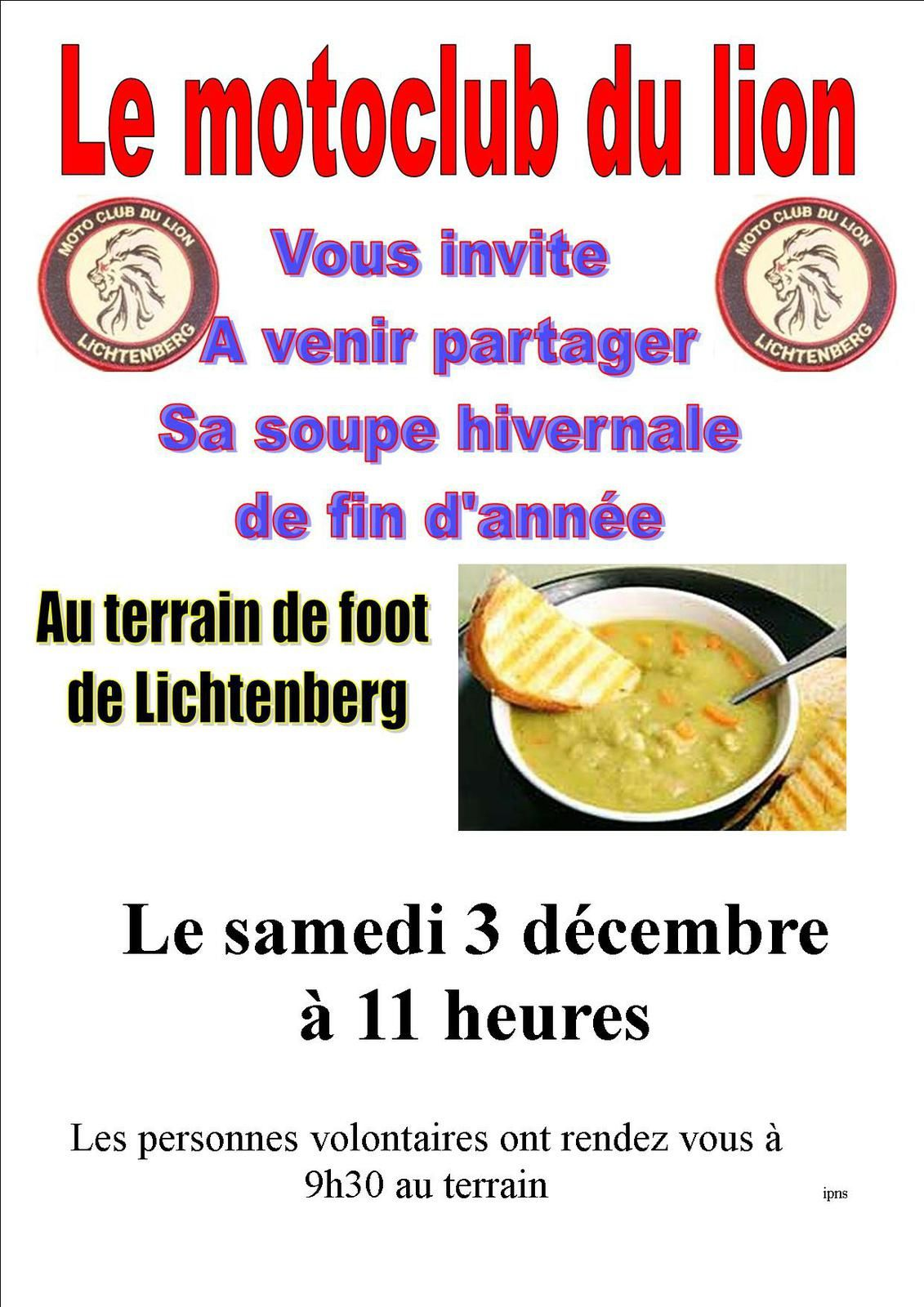 Invitation du moto club de Lichtenberg