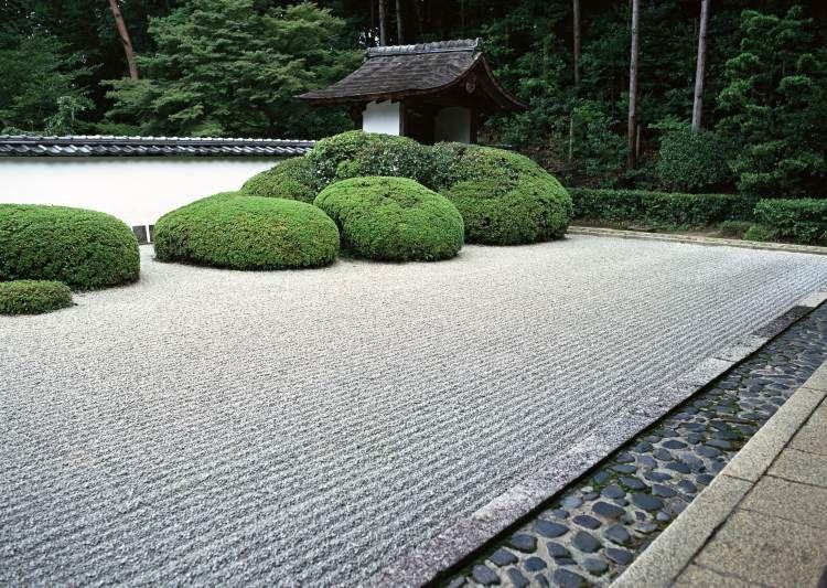 Jardin Feng Shui japonais avec buis taillés. En espérant découvrir les merveilleux jardins japonais un jour...