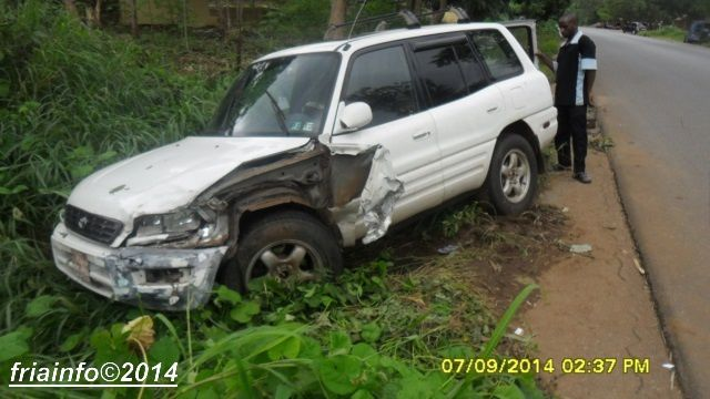 IMAGES DE L'ACCIDENT DE SOULEYMANE BAH