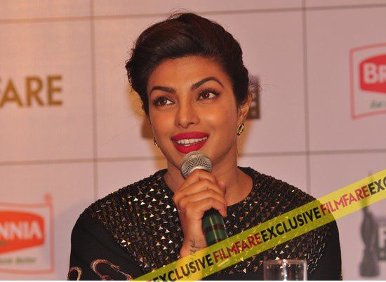 Priyanka Chopra à la conférence de presse des Britannia Filmfare Awards