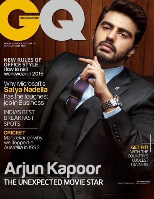 Arjun Kapoor en couverture des magazines GQ et Star Week pour janvier 2015