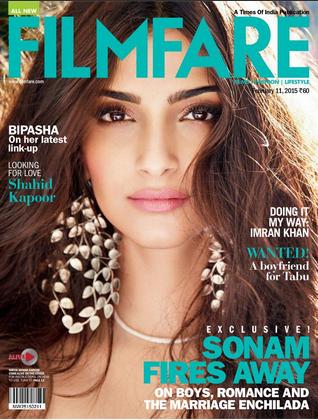 Sonam Kapoor pose pour le magazine Filmfare pour janvier 2015