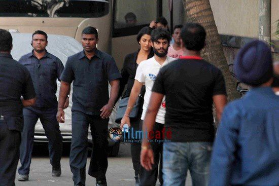 Aishwarya Rai Bachchan et Irrfan Khan sur le tournage du film Jazbaa