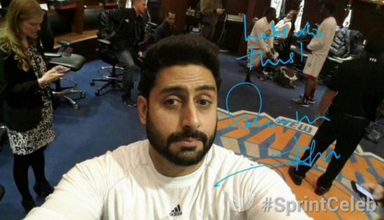 Abhishek Bachchan assiste aux NBA All Stars 215