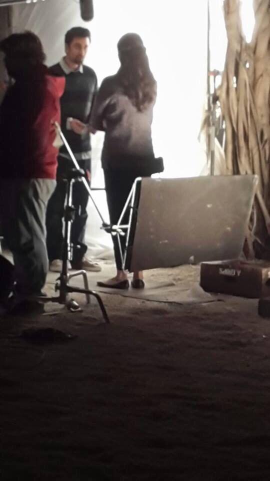 Sur le tournage du film Tamasha